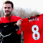 Manchester United's Juan Mata  before the press conference at the Aon Training Complex